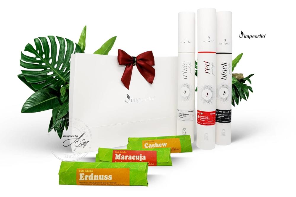 Geschenkset Impearlia Kapseln mit Schokolade white