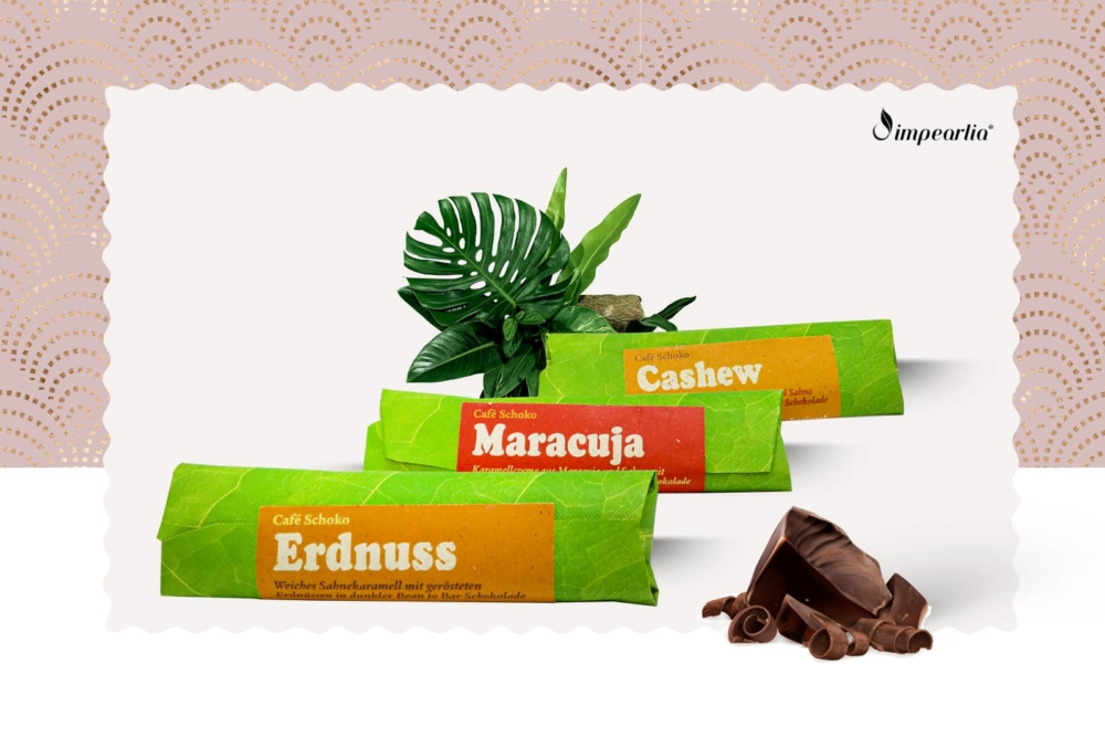 Geschenkset Schokoriegel Erdnuss Maracuja Cashew
