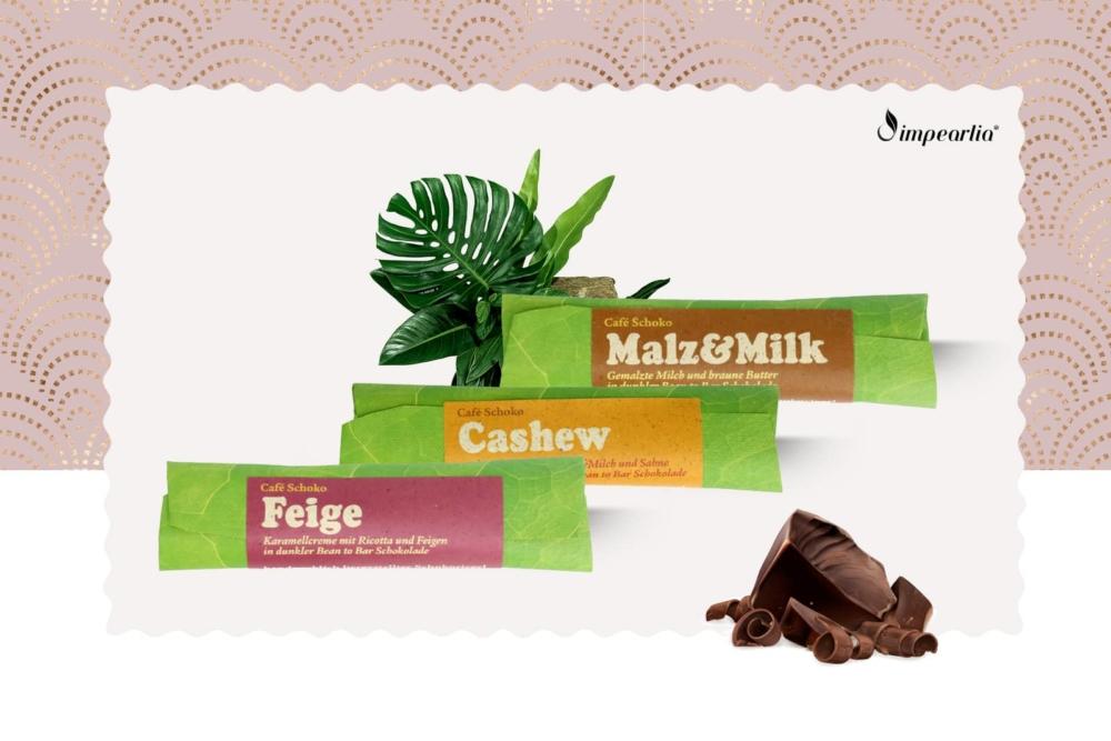 Schokoladen-Set: Feige, Cashew, Malz & Milk
